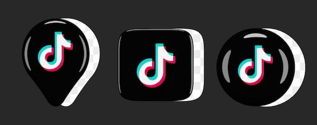 Set di icone lucide tiktok
