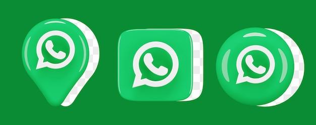 Set di icone lucide per whatsapp