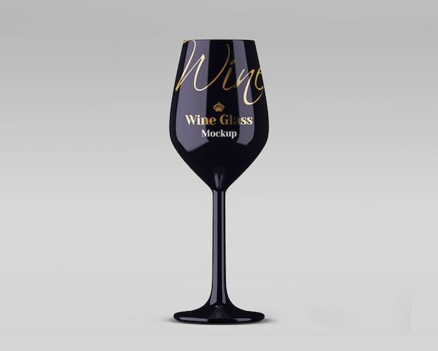 Mockup di bicchiere di vino lucido