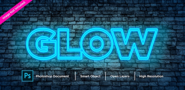 Glow text effect design
