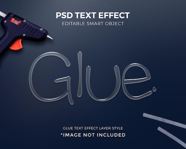Colla 3d disegno effetto testo stile mockup.