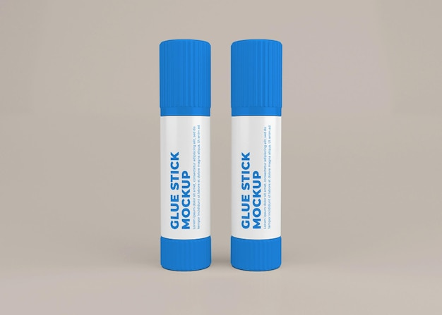 Colla stick etichetta mockup design in 3d rendering isolato