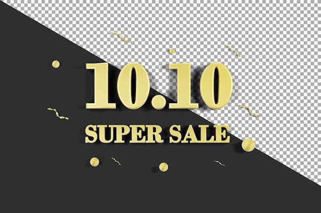 Oro 10 10 super vendita3d rendering isolato