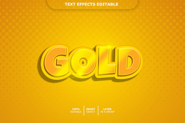 Effetto oro stile testo 3d