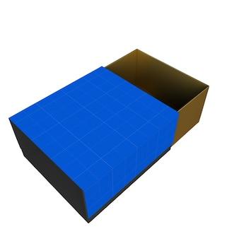 Mockup di scatola regalo oro e blu