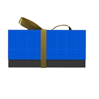 Mockup di confezione regalo oro e scuro