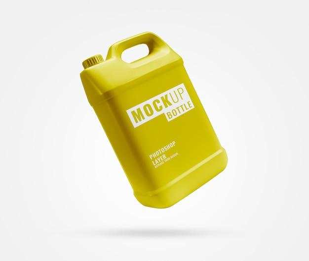 Mockup realistico di bottiglia gallone d'oro