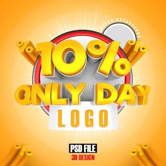 Mega vendita d'oro 10 solo giorno 3d design