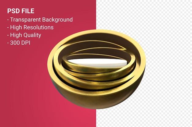 Presentazione minima del prodotto gold podium