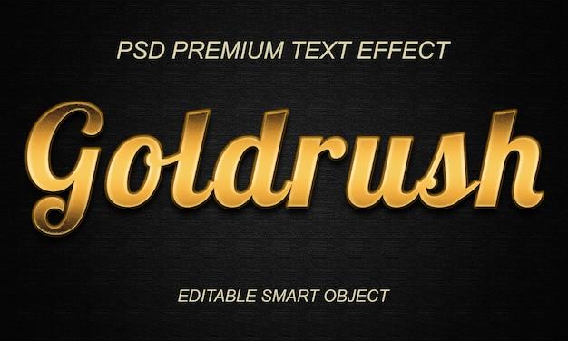 Design effetto testo corsa all'oro Psd Premium