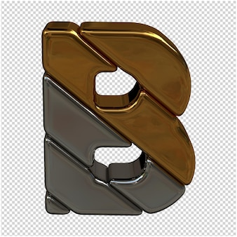 Rendering 3d di lettere d'oro e d'argento