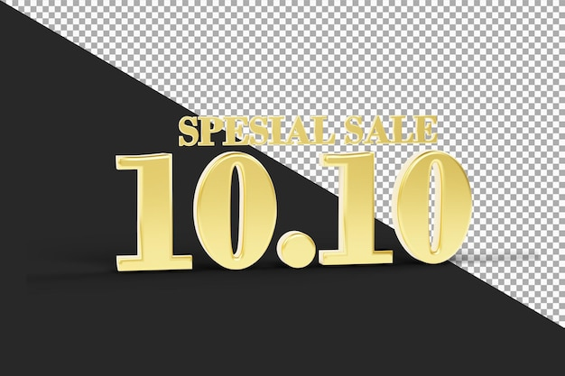 Oro super vendita 10 10 rendering 3d isolato