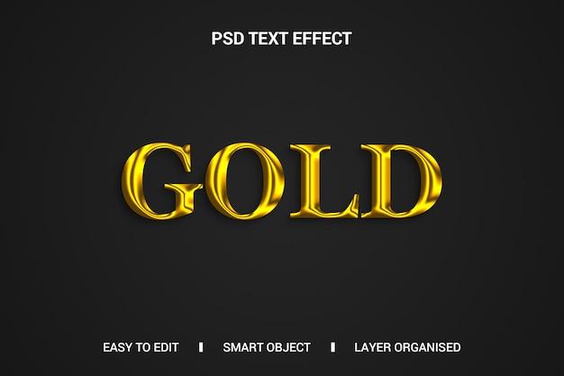 Effetto testo oro su sfondo nero