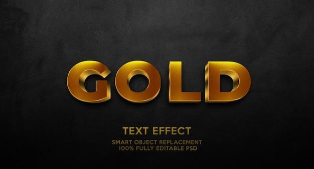 Modello effetto testo oro