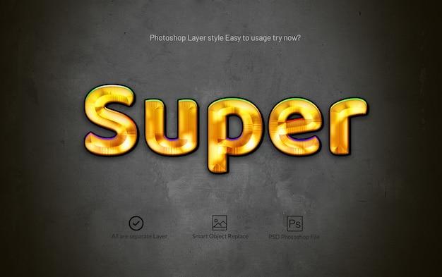 Effetto di stile di livello dorato 3d photoshop