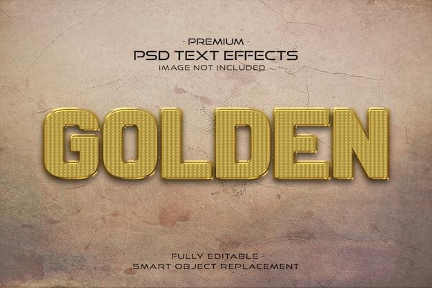 Effetto dorato del testo 3d
