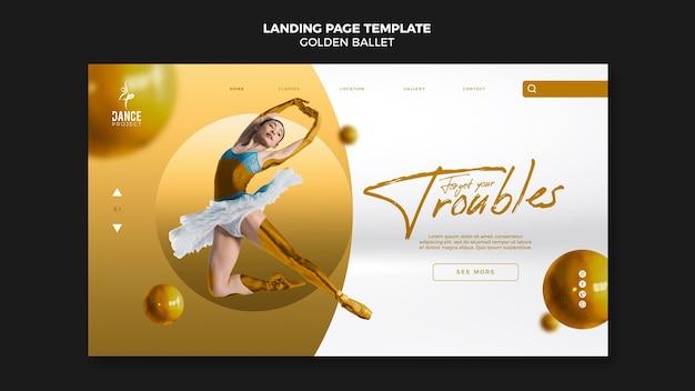 Modello di pagina di destinazione del balletto d'oro