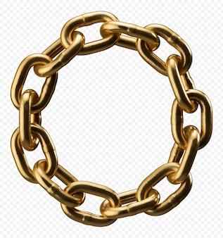 Alfabeto catena d'oro lettera o isolato