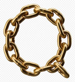 Alfabeto catena d'oro lettera q isolato