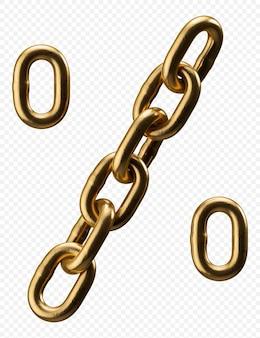 Segno di percentuale di alfabeto catena dorata isolato