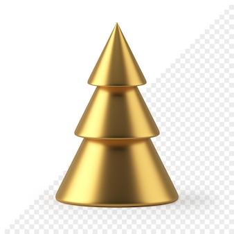 Cono d'oro albero di natale 3d render