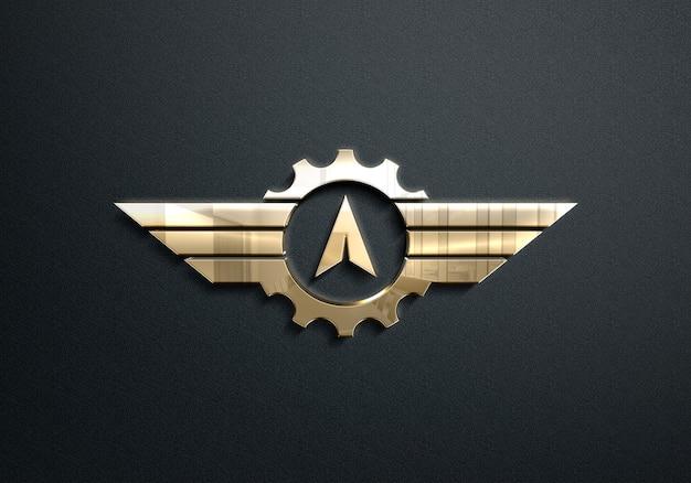 Mockup logo dorato