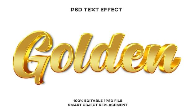 Modello di stile effetto testo dorato