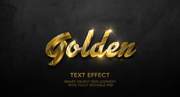 Modello effetto testo dorato