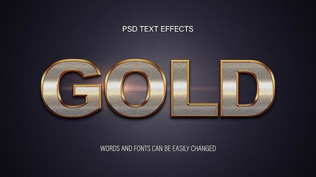 Effetto testo dorato