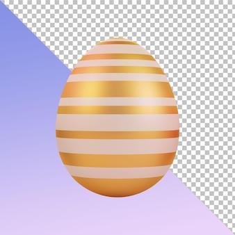 Golden white uova di pasqua 3d rendering design