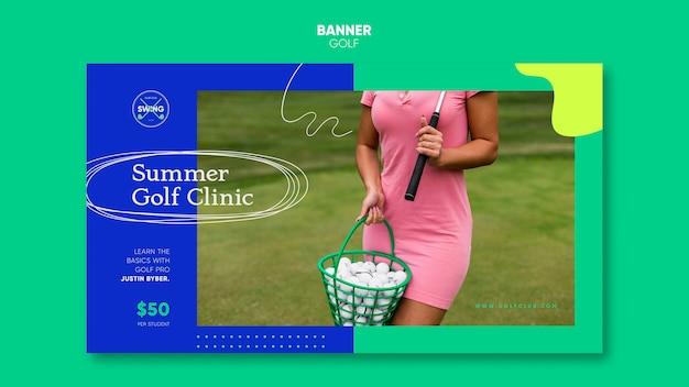 Modello di banner concetto di golf
