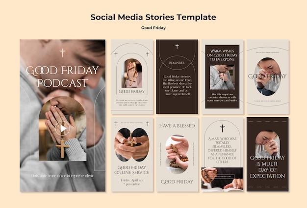 Buon venerdì modello di storie di instagram