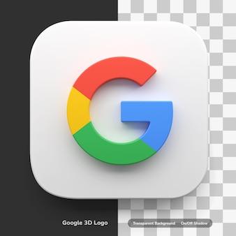 Logo dell'icona 3d delle app dell'account google nell'angolo rotondo quadrato