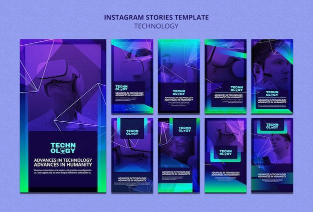 Storie di instagram con tecnologia gradiente