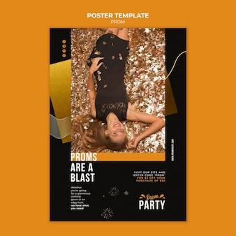 Modello di poster del ballo di fine anno