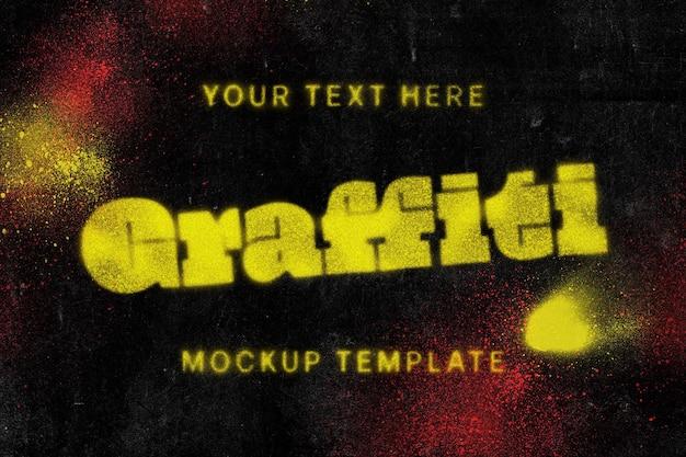 Modello di mockup di testo graffiti