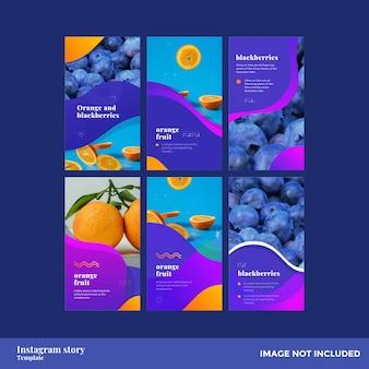 Modello di storia instagram uva