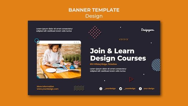 Modello di banner di progettazione grafica con foto