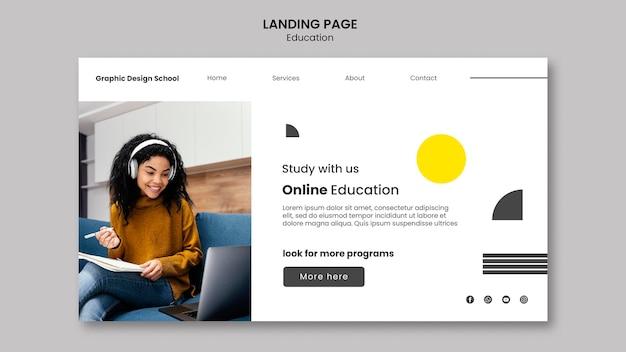Pagina di destinazione della scuola di graphic design