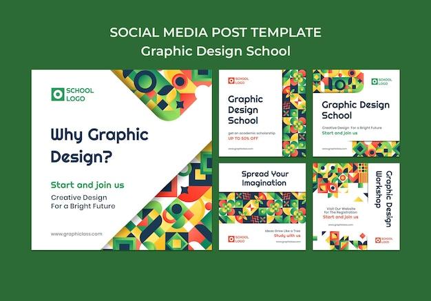 Post sui social media di progettazione grafica