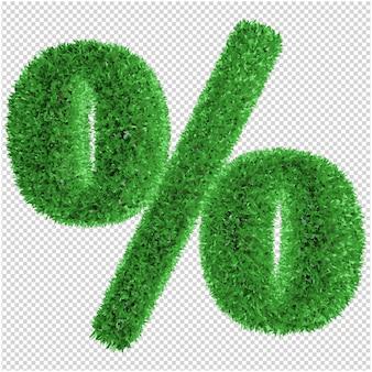 Simbolo di erba rendering 3d