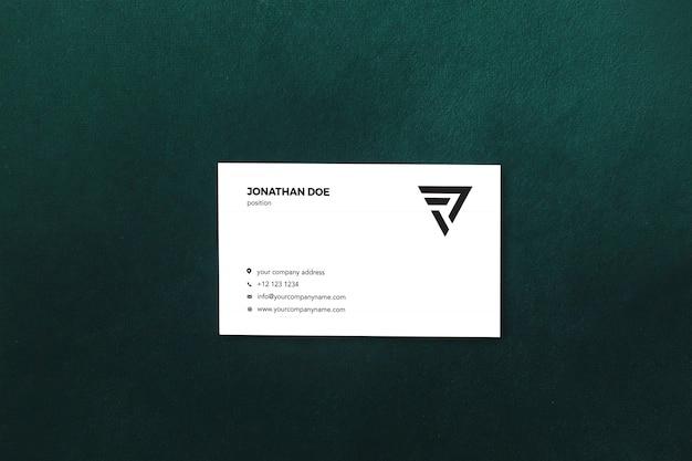 Sfondo verde biglietto da visita mockup