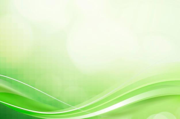 Modello di cornice curva verde