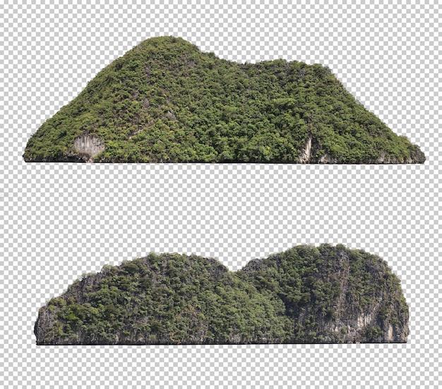 Insieme dell'isola verde isolato