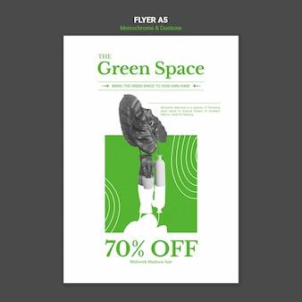 Modello di poster di spazio verde