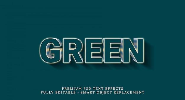 Effetto stile testo verde