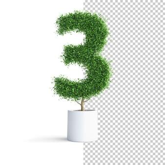 Albero verde numero 3