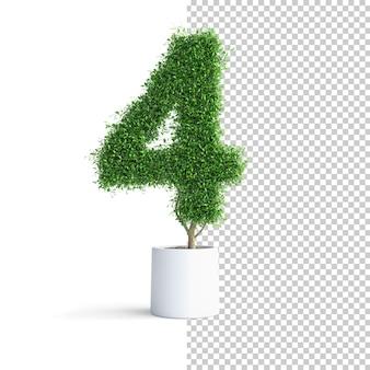 Albero verde numero 4