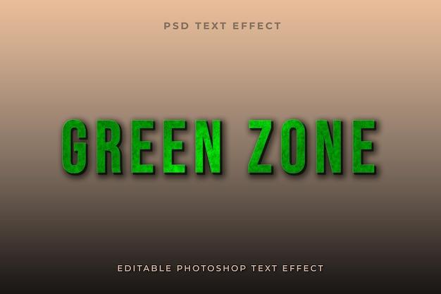 Modello di effetto testo zona verde