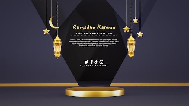 Podio biglietto di auguri per il ramadan kareem